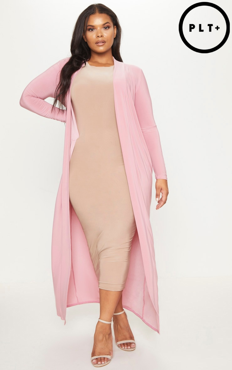 Plus Blush Slinky Duster Jacket 1