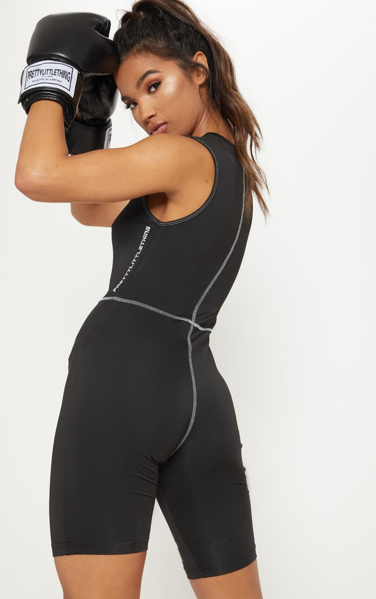 PLT Black Gym Unitard  2