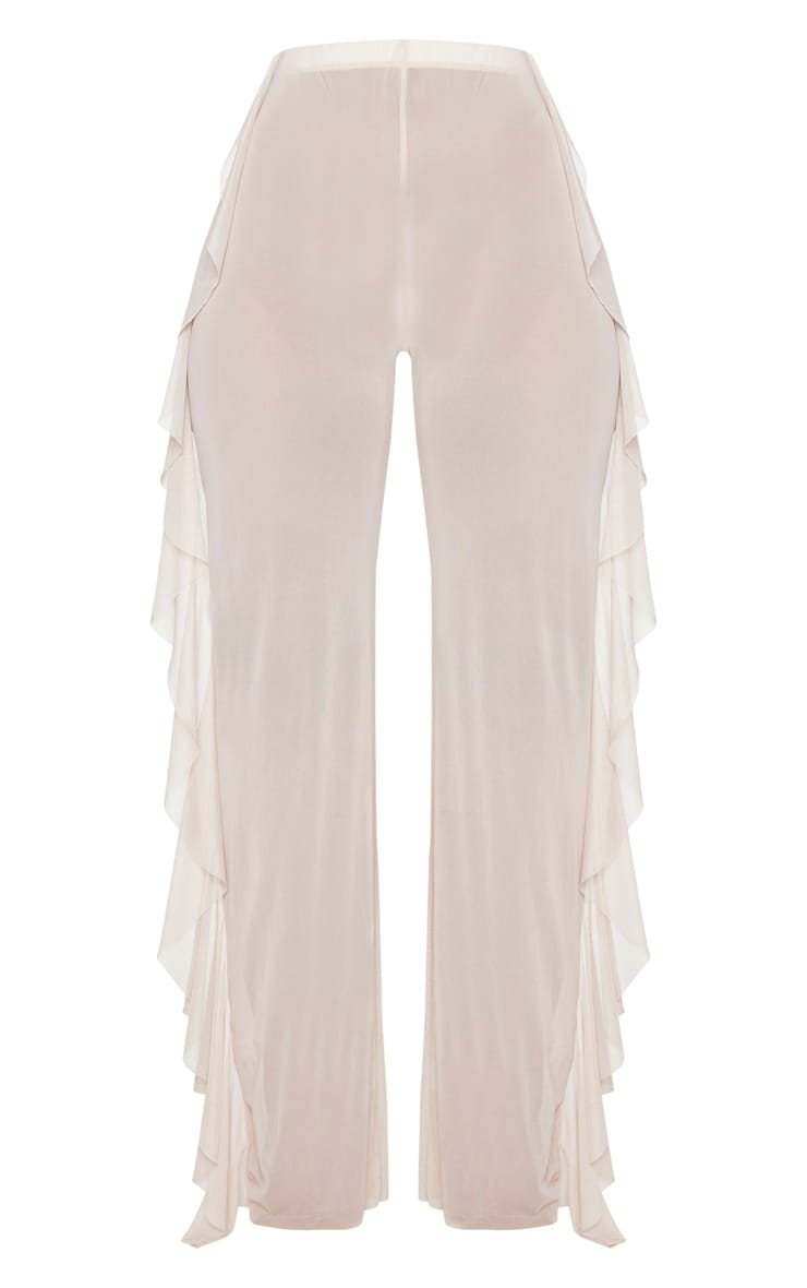 Nude Frill Mesh Beach Trousers 5