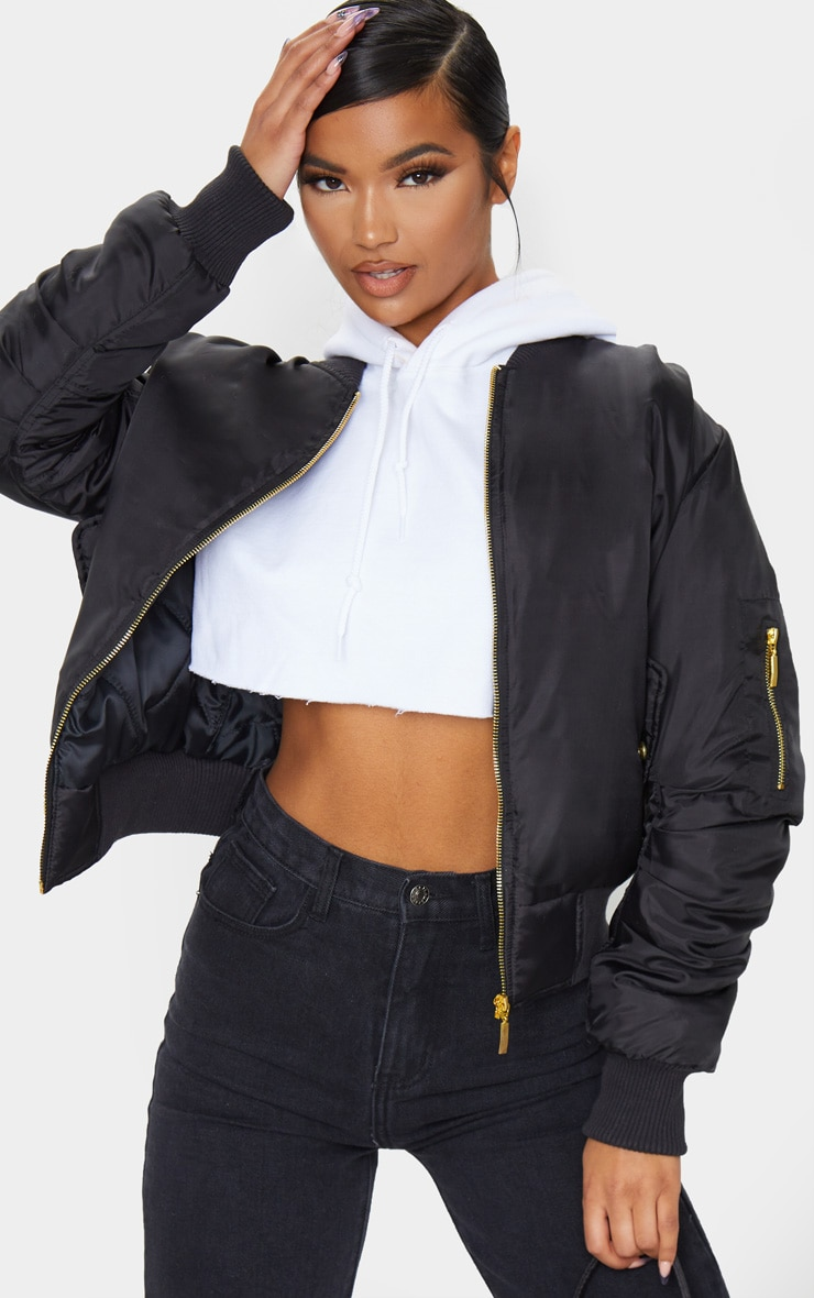 Alexus Black Bomber Jacket 1