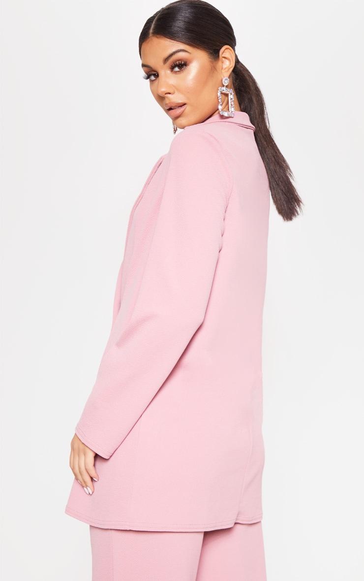 Pink Oversized Boyfriend Blazer 3
