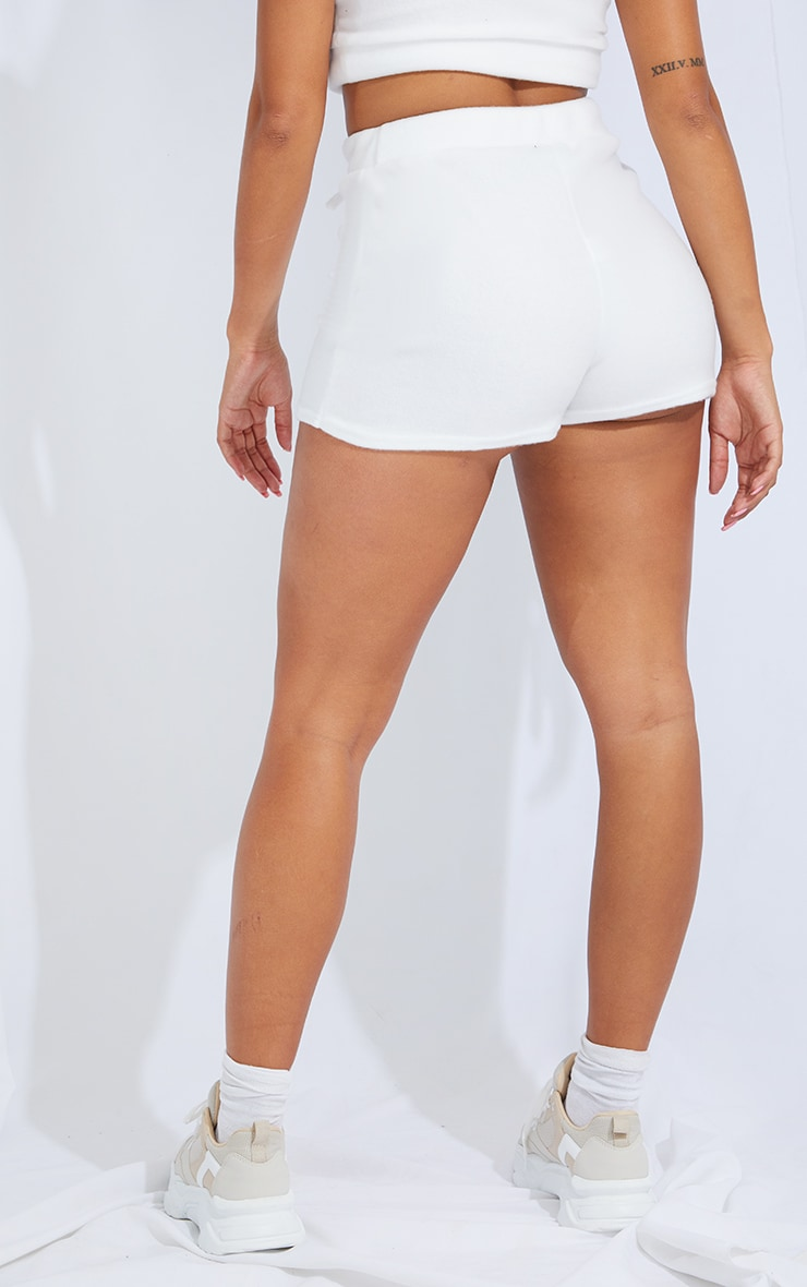 Shape Cream Brushed Sweat Tie Detail Shorts 3