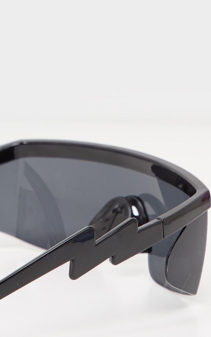 Black Futuristic Visor Sunglasses 2