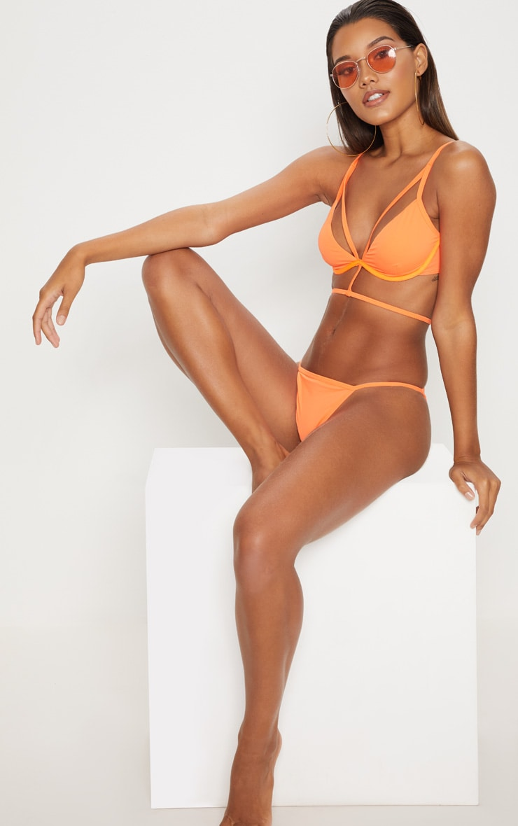 Orange Wired Harness Bikini Top 4