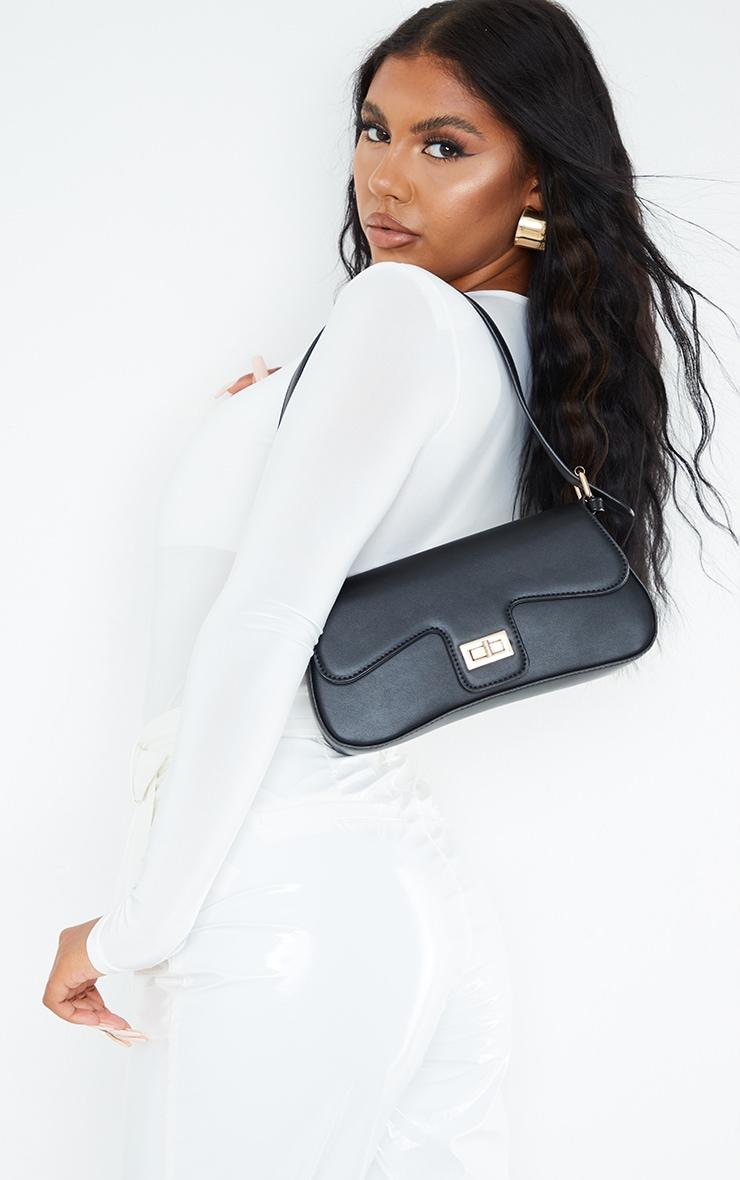 Black Envelope Shoulder Bag 1