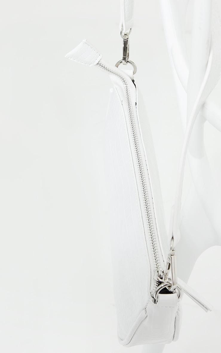 White Croc Shoulder Bag 3
