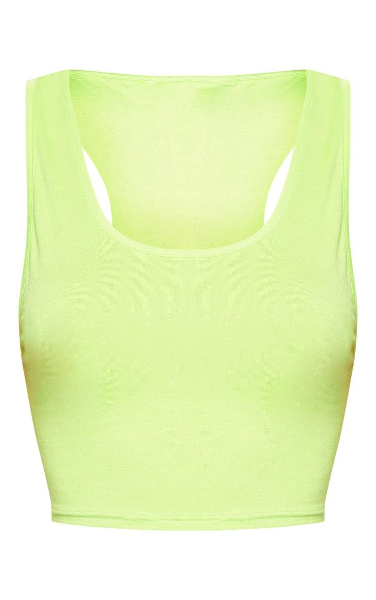 Basic Lime Scoop Neck Jersey Vest Top 3