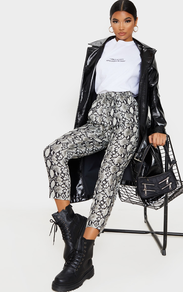 White Snake Casual Pants 1