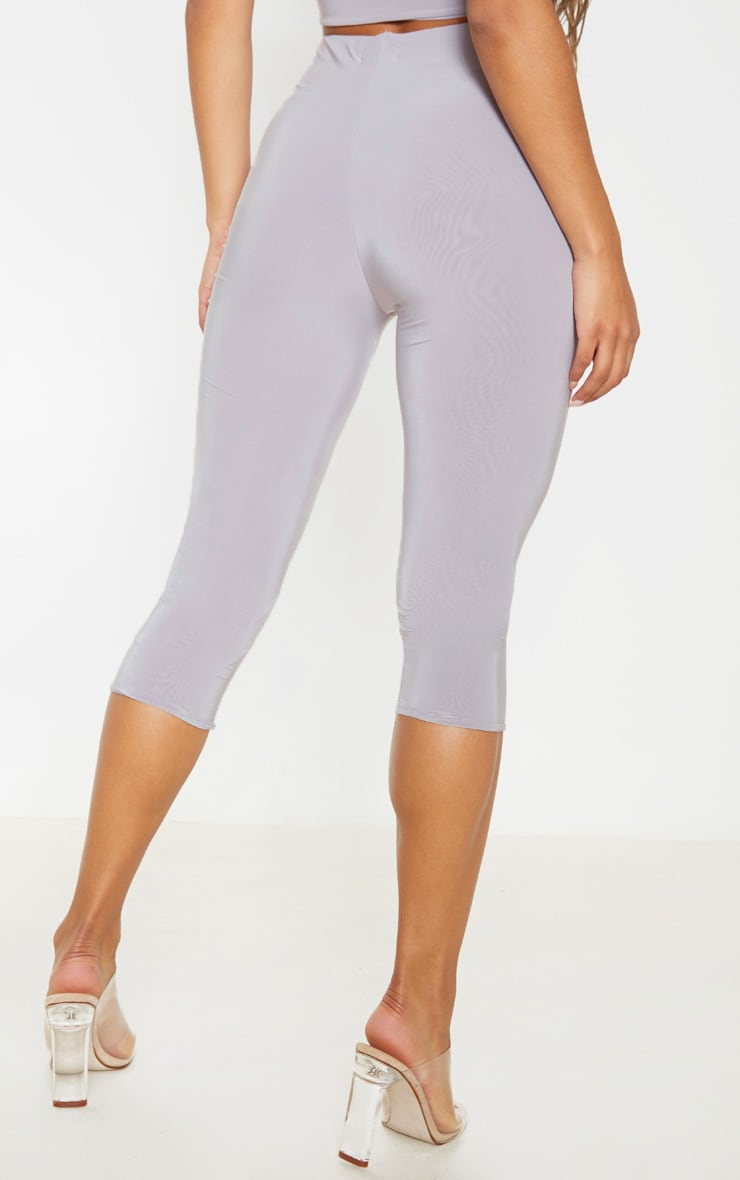 Light Grey Second Skin Slinky Cropped Legging  4