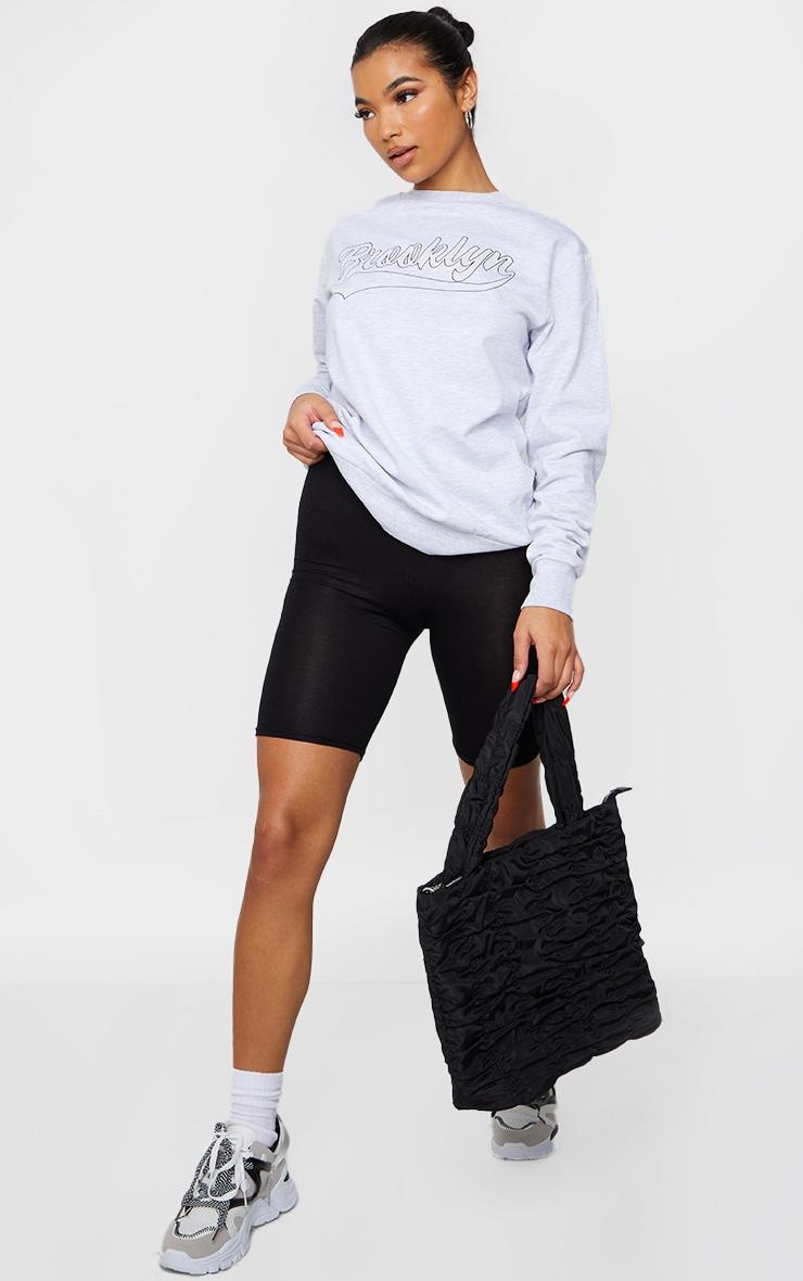 Grey Brooklyn Slogan Sweatshirt 3