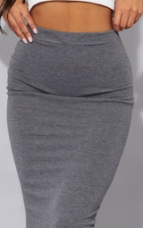 Charcoal Ultimate Jersey Longline Midi Skirt 4