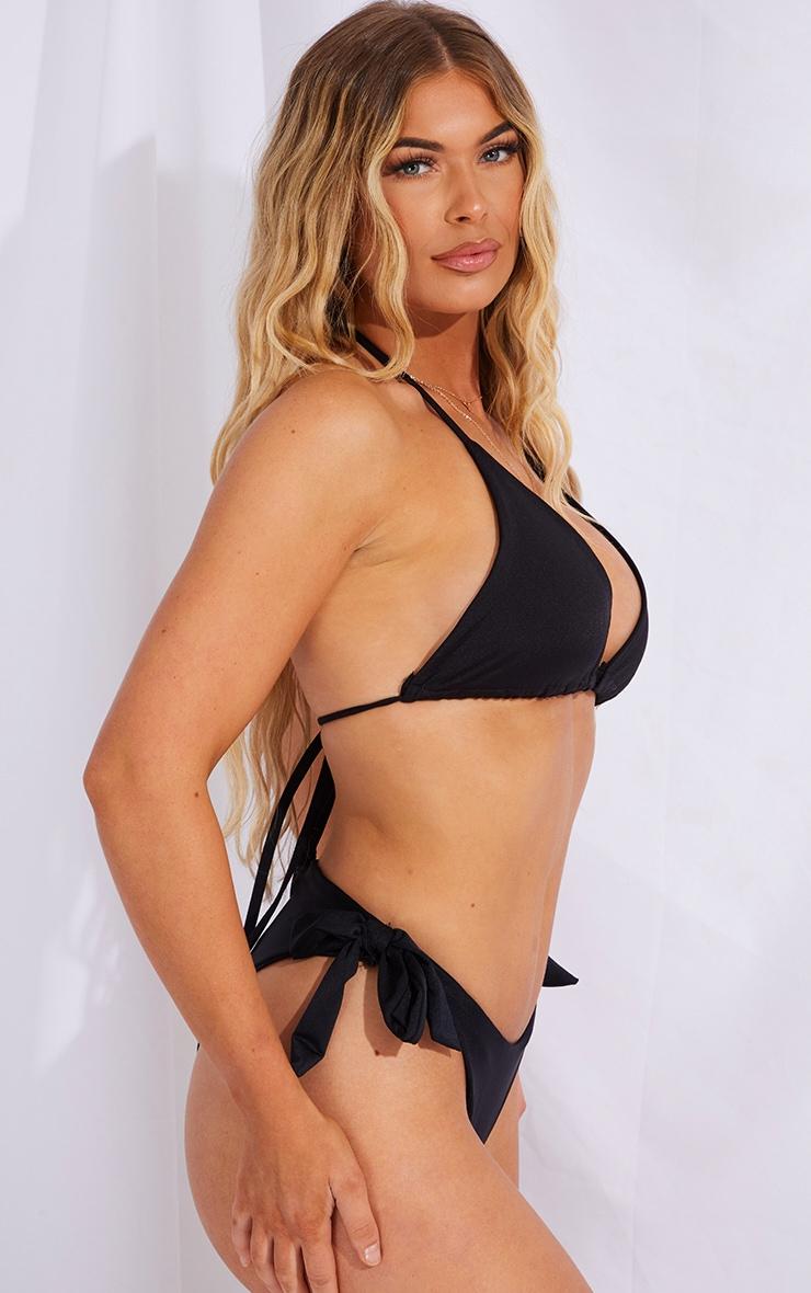 Black Mix & Match Bow Side Bikini Bottoms 2