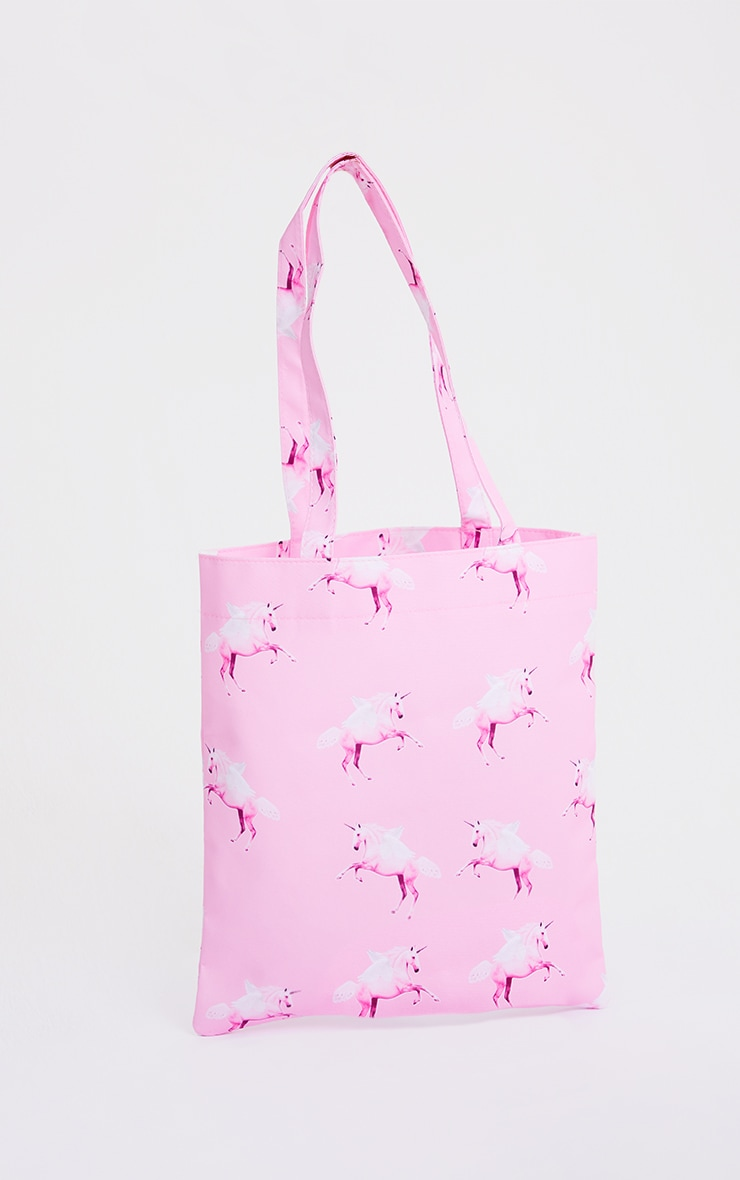 Tote bag rose à licornes PRETTYLITTLETHING 2