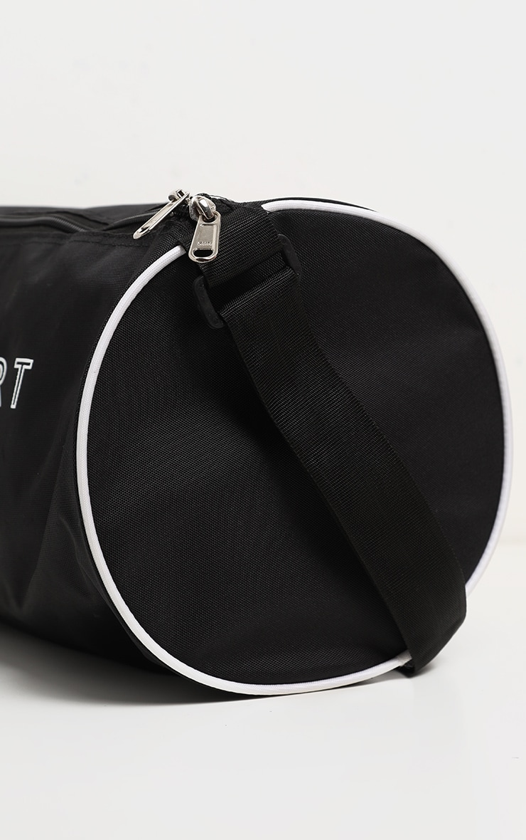 PRETTYLITTLETHING Black Sport Barrel Gym Bag 3
