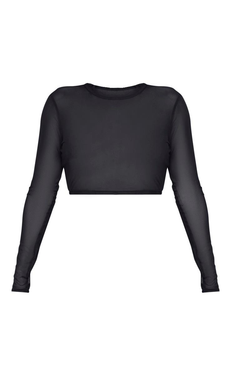 Shape Black Mesh Long Sleeve Top 3