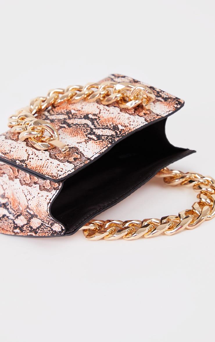 Orange Snake Chunky Chain Mini Grab Bag 2