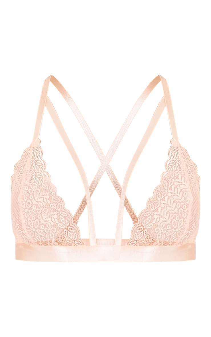 Gerrie Nude Lace Harness Soft Bra 3