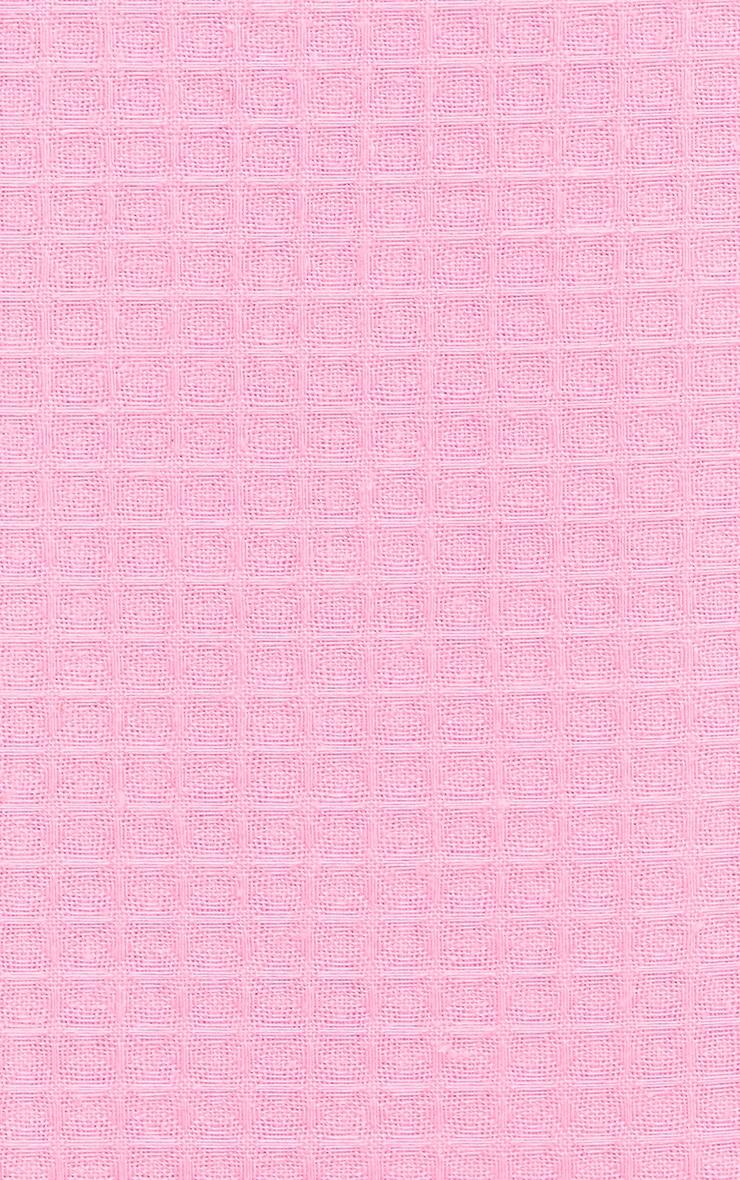 PRETTYLITTLETHING Pink Waffle Single Duvet Set 4