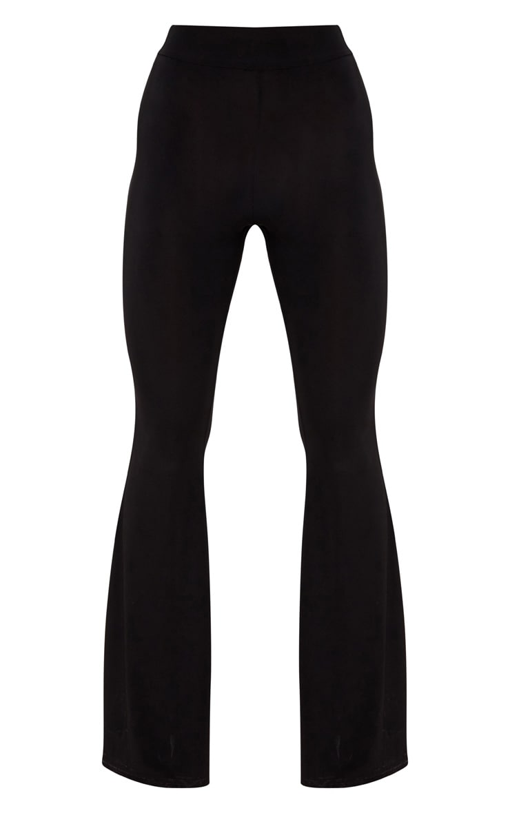 Black Slinky High Waisted Flares 3