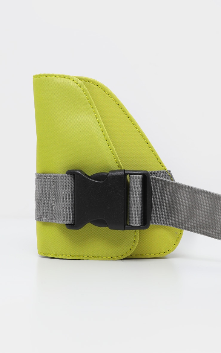 Green Asymmetrical Pouch Webbing Belt Bag 2