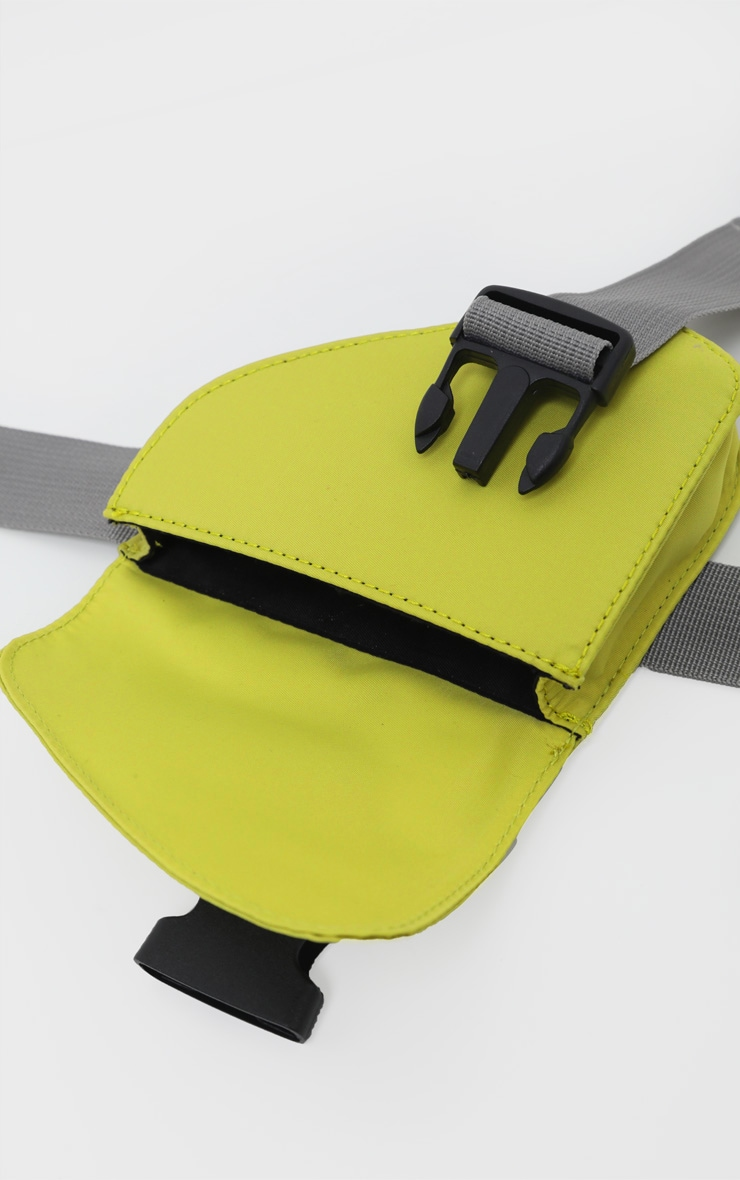 Green Asymmetrical Pouch Webbing Belt Bag 3