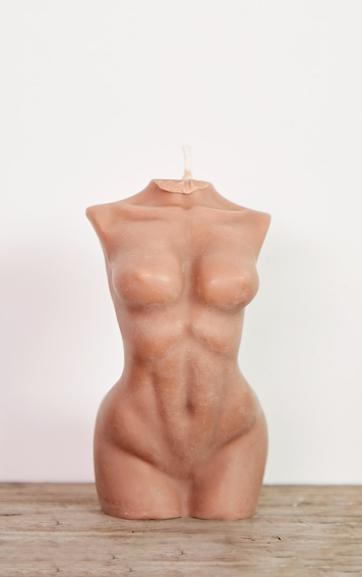 Brown Large Female Body Candle 14cm 4
