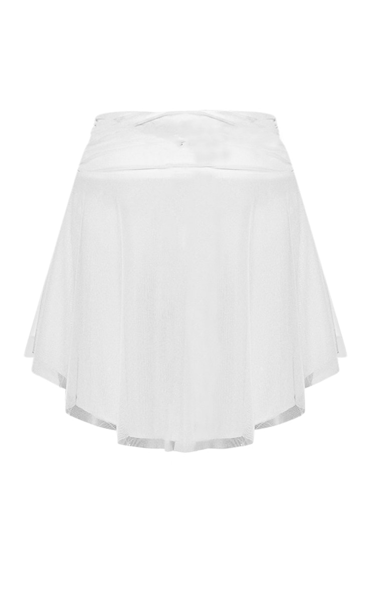 White Angel Mesh Skater Skirt 5