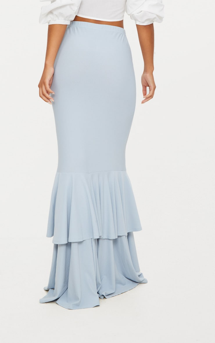 Pale Blue Frill Occasion Skirt 4