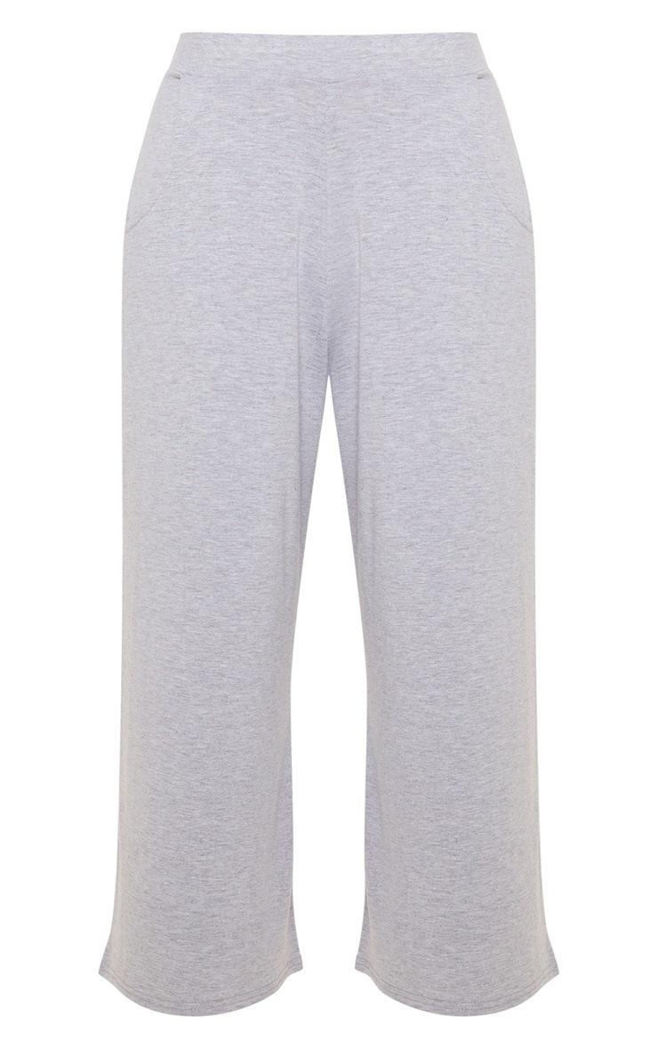 Grey Marl Jersey Pocket Detail Culotte 3