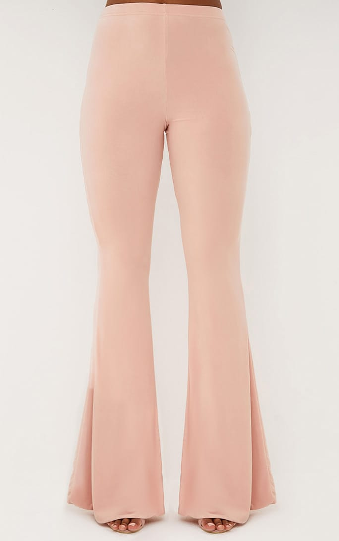 Nude Slinky Flared Trousers 2