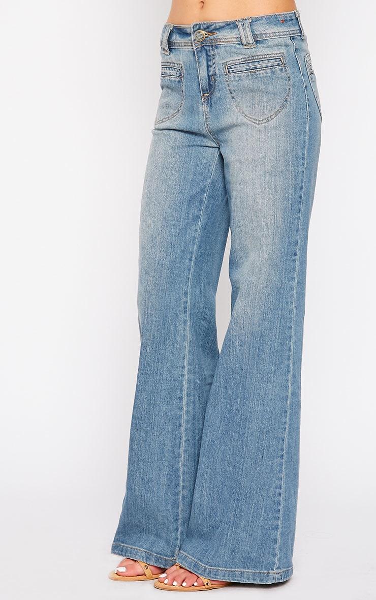 Tierna Blue Flared Jean 3