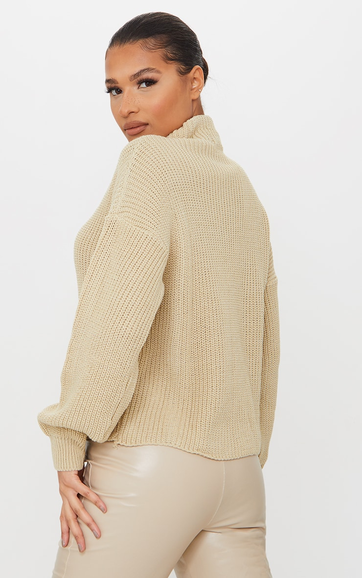 Stone High Neck Sweater 2