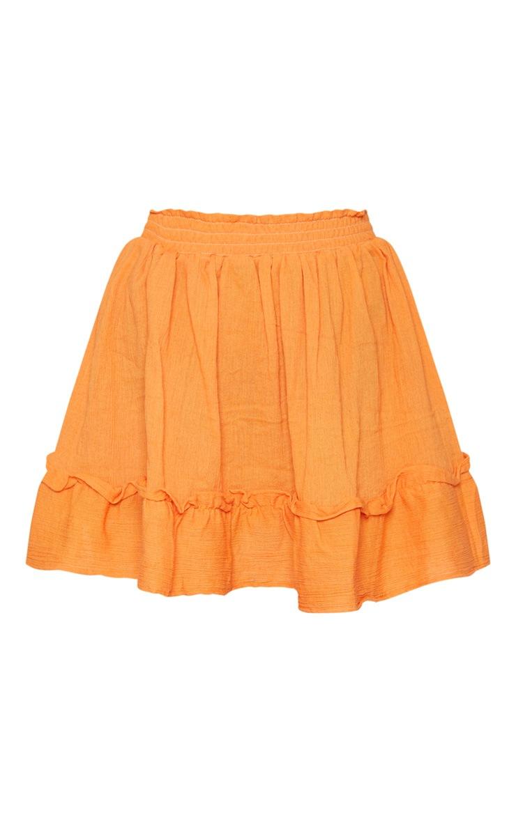 Petite Tangerine Cheesecloth Floaty Skirt 3