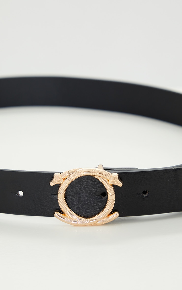 Gold Textured Snake Waist Belt 2