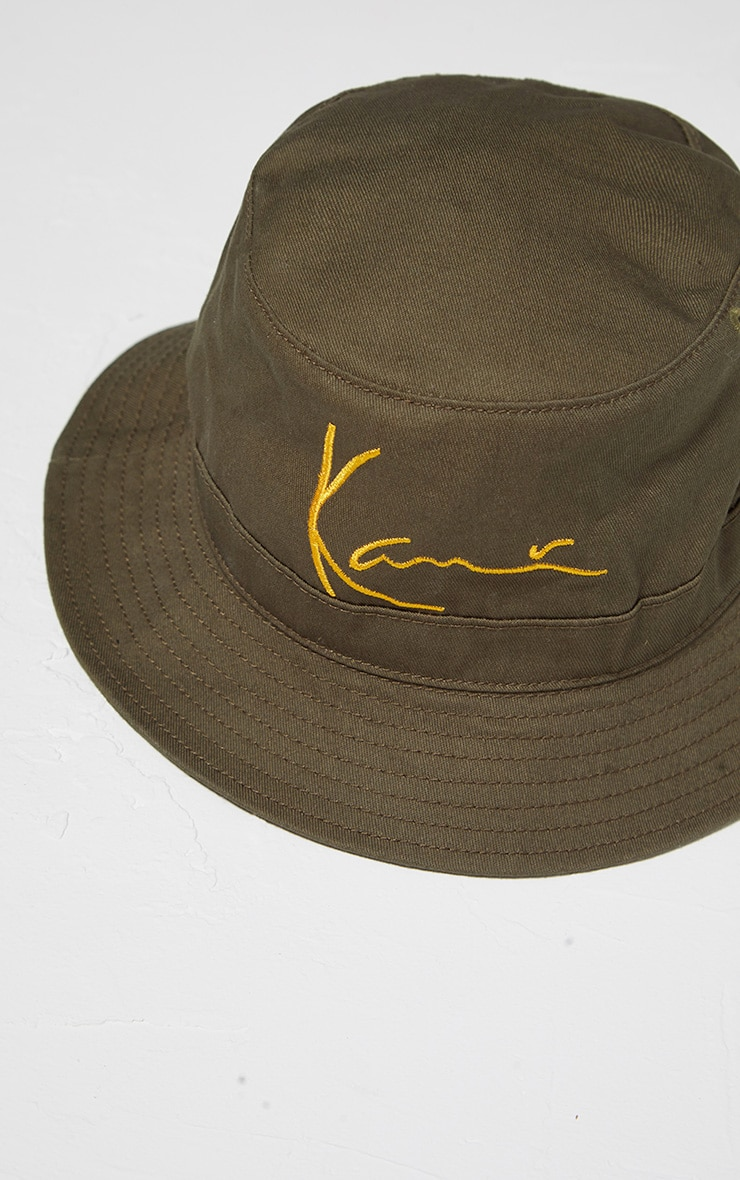 KARL KANI Khaki Embroidered Bucket 4