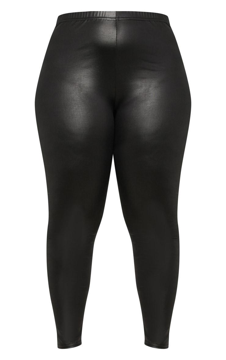Plus Black PU Detail Legging 3