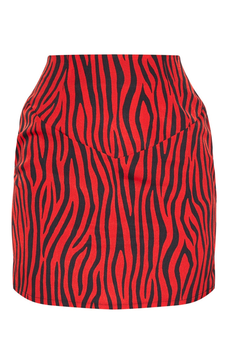 Red Zebra Mini Skirt 3