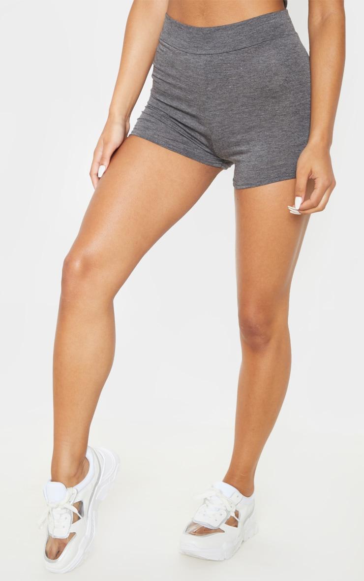 Short basique gris à taille haute 2