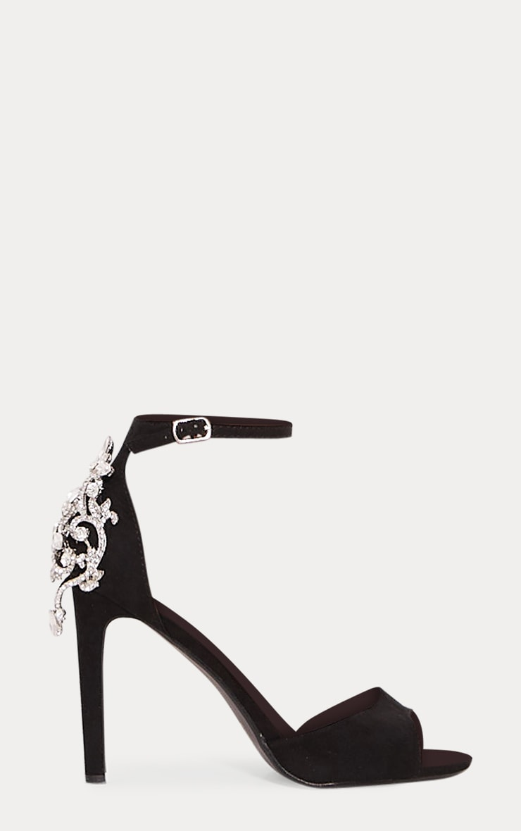 Black Jewel Heel Sandal 3