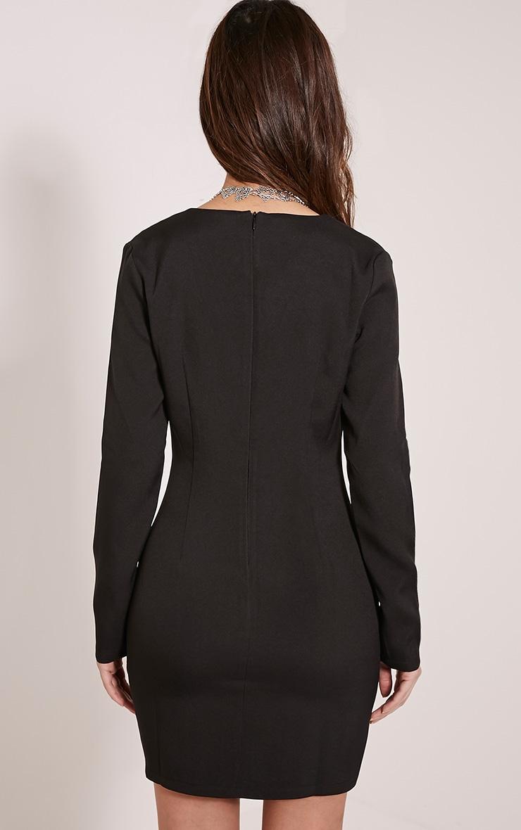 Alyson Black Blazer Style Dress 2
