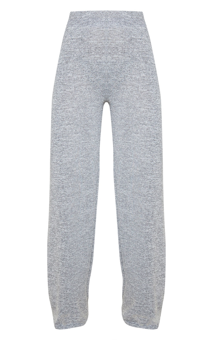Pantalon gris chiné à jambes évasées 3