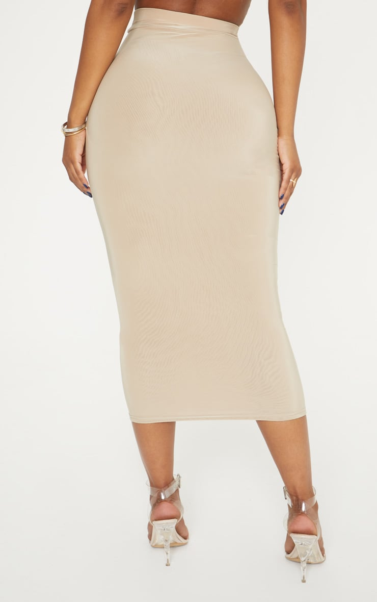 Shape Stone Slinky Belt Trim Midi Skirt 4