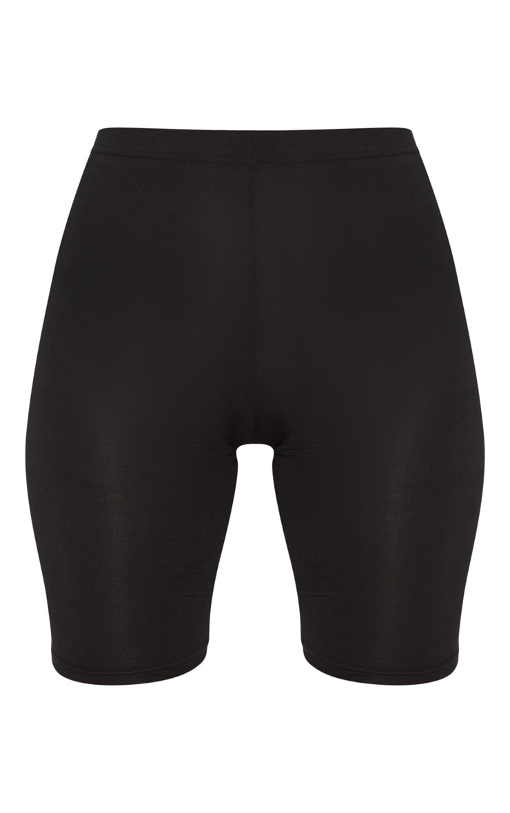 Petite Black Basic Bike Shorts 3