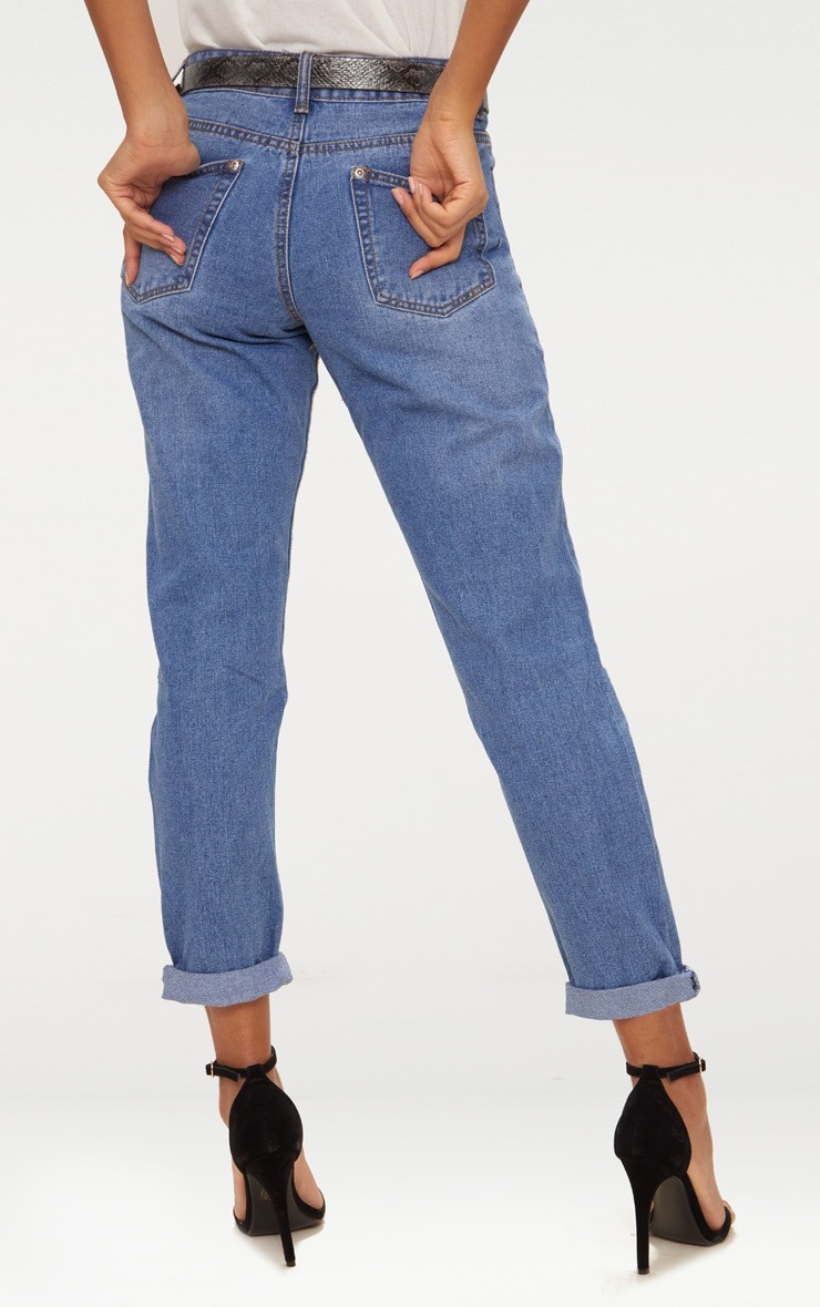 Extreme Rip Straight Leg Mid Wash Jean 3