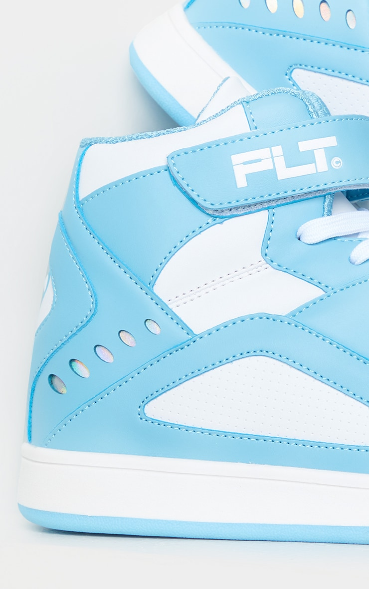 PRETTYLITTLETHING Mint Strap High Top Trainers 4