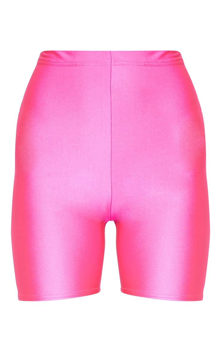 Pink Neon bike Shorts  3