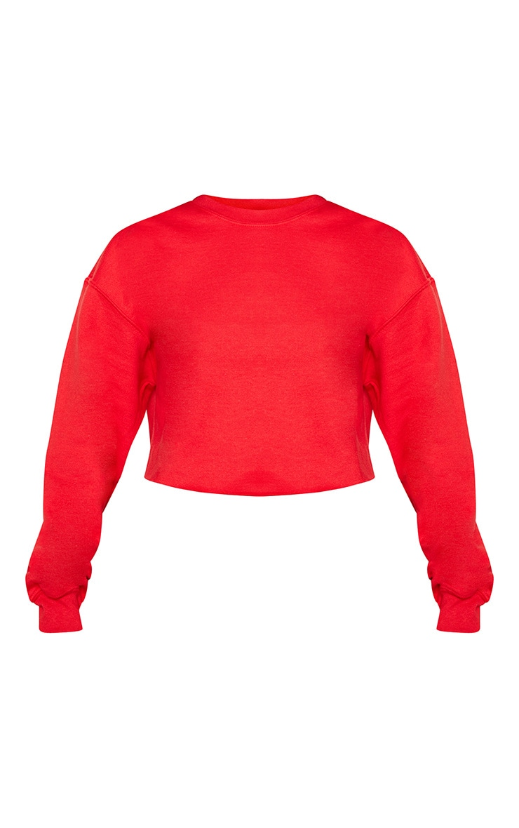 Red Ultimate Cropped Sweatshirt 3