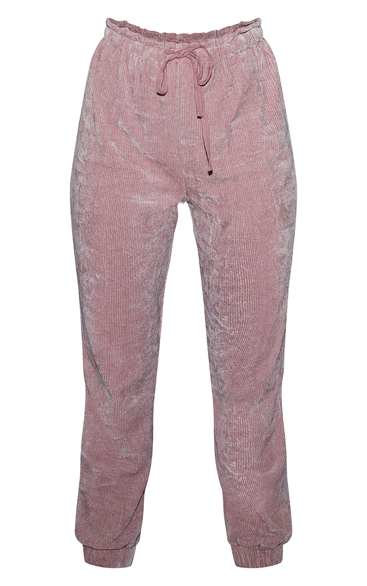 Pink Mix And Match Luxe Rib Velour PJ Joggers 5