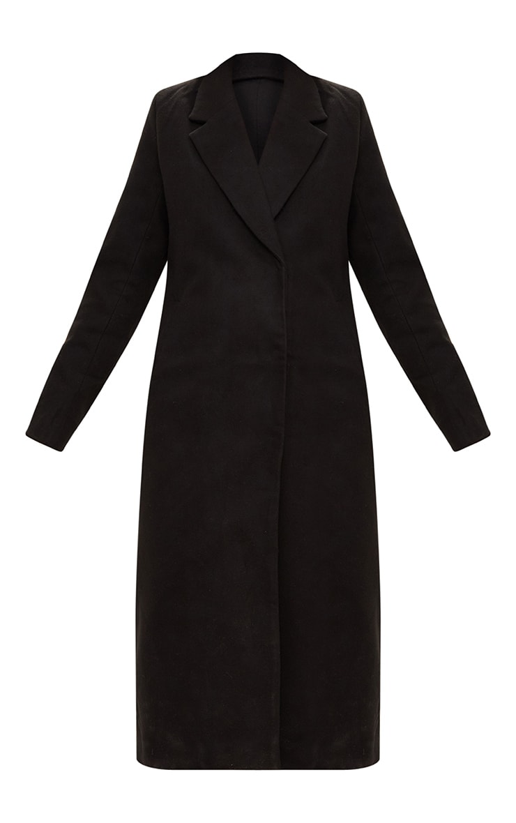 Salana Black Longline Double Breasted Coat 3