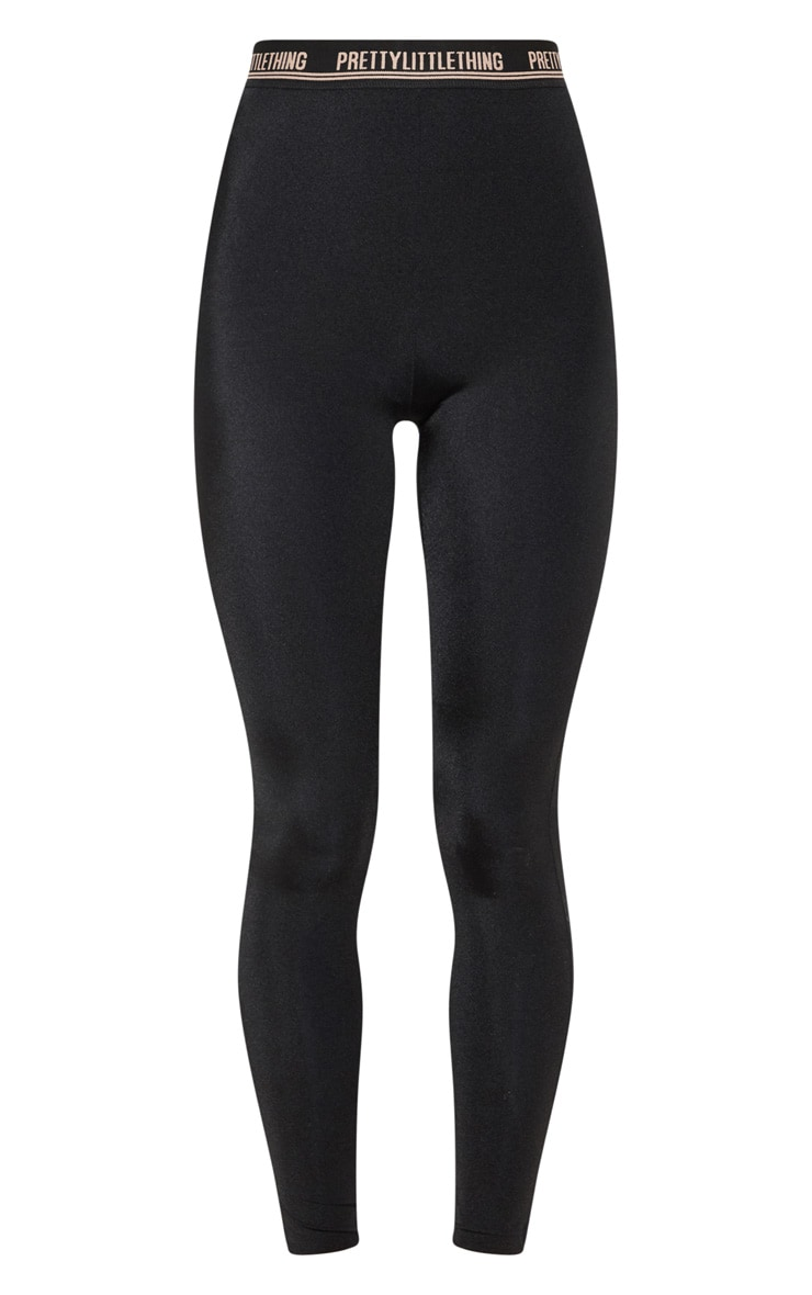 PRETTYLITTLETHING Black Gym Legging 3